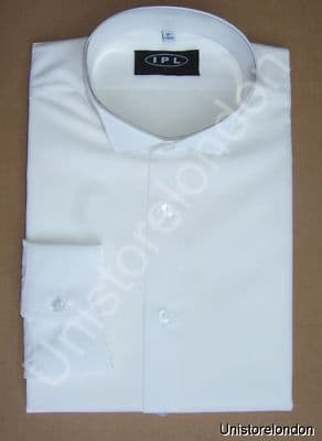Wing Collar Wedding dress shirt White For Mens R350