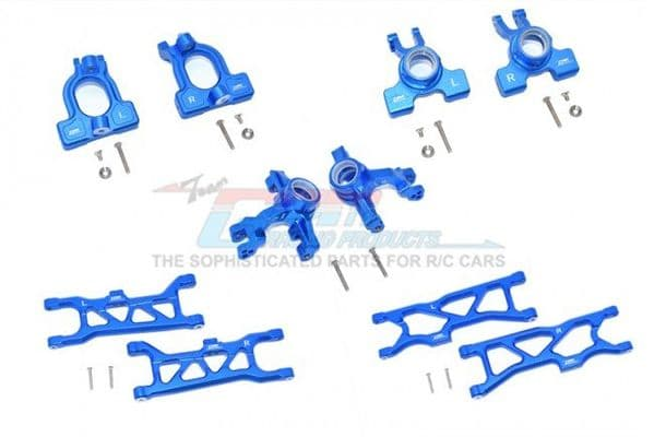 Aluminum Front C-Hub s, Front+Rear Knuckle Arms+Front &rear Lower Arms -28pc set