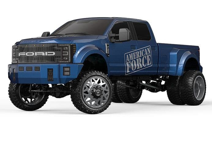 CEN RACING DL-SERIES FORD F450 SD 1/10 CUSTOM TRUCK RTR BLUE
