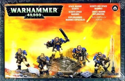 Games Workshop Warhammer 40000 40K Space Marine Scout Squad 48-16