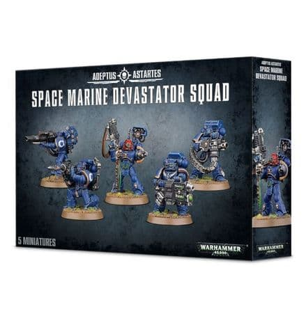 Games Workshop Warhammer 40K Space Marine Devastator Squad 48-15