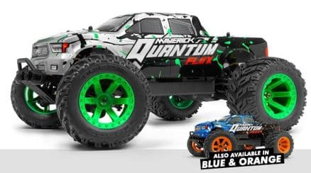 Maverick Quantum MT Flux 4WD Monster Truck 1/10 Silver + Charger and Battery + lipo bag
