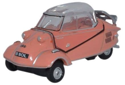 Oxford Diecast 76MBC003 Messerschmitt KR200 Bubble Top Rose - 1:76