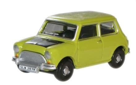 Oxford Diecast 76MN005 Classic Mini Lime Green - 1:76