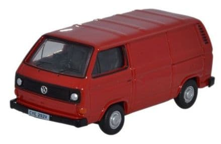 Oxford Diecast 76T25007 VW T25 Van Orient Red - 1:76