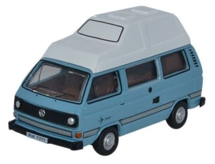 Oxford Diecast 76T25009 VW T25 Camper Medium Blue_White - 1:76
