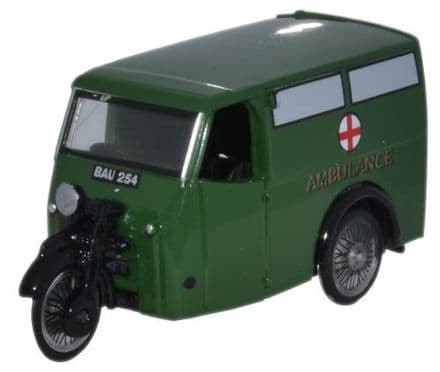 Oxford Diecast 76TV007 Tricycle Van Ambulance - 1:76