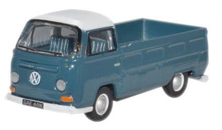 Oxford Diecast 76VW021 Neptune Blue_White VW Bay Window - 1:76