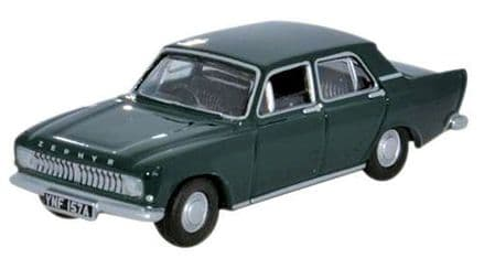 Oxford Diecast 76ZEP009 Ford Zephyr Goodwood Green  1:76