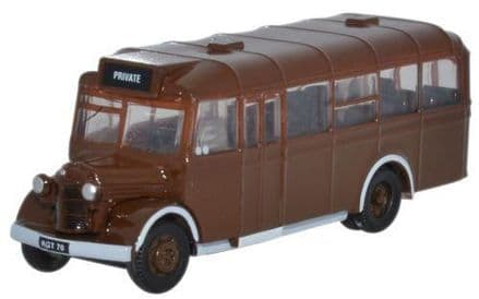 Oxford Diecast NOWB002 Brown As Delivered Bedford OWB - 1:148