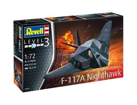 REVELL 03899 F-117A NIGHTHAWK MODEL KIT 1/72
