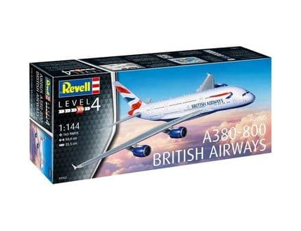 REVELL 03922 AIRBUS A380-800 BRITISH AIRWAYS MODEL KIT 1/144