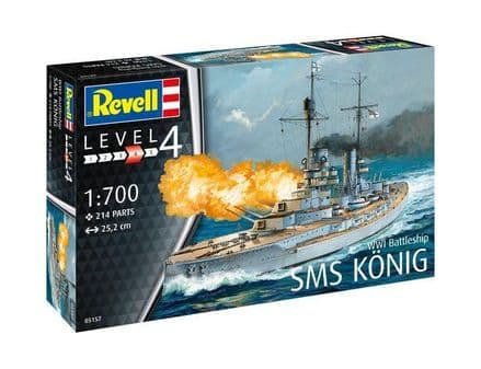REVELL 05157 SMS KONIG MODEL KIT 1/700