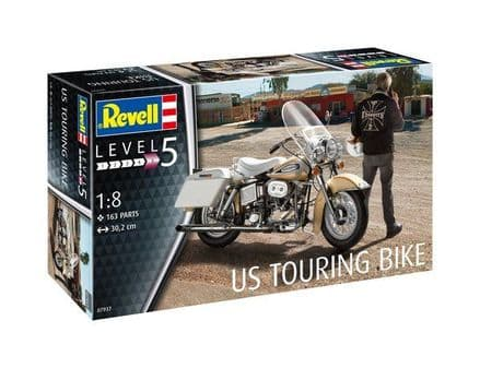 REVELL 07937 U.S. TOURING BIKE MODEL KIT 1/8
