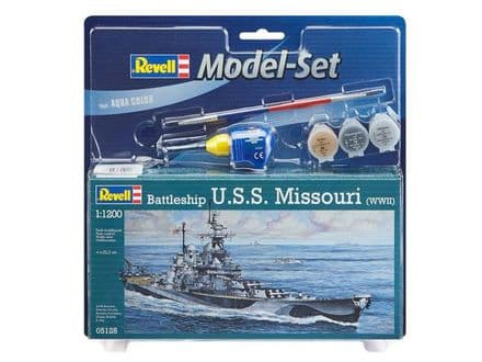 Revell 65128 Battleship USS Missouri (WWII) Model Set 1/1200