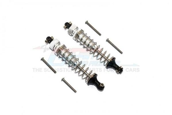 TRAXXAS TRX4 TRAIL CRAWLER Aluminum Front/Rear Adjustable Spring Dampers - 8pc set - GPM Silver